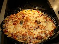 Macaroni aux légumes gratiné