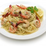 Linguines avocat et fruits de mer
