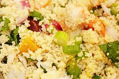 Couscous aux légumes et crevettes