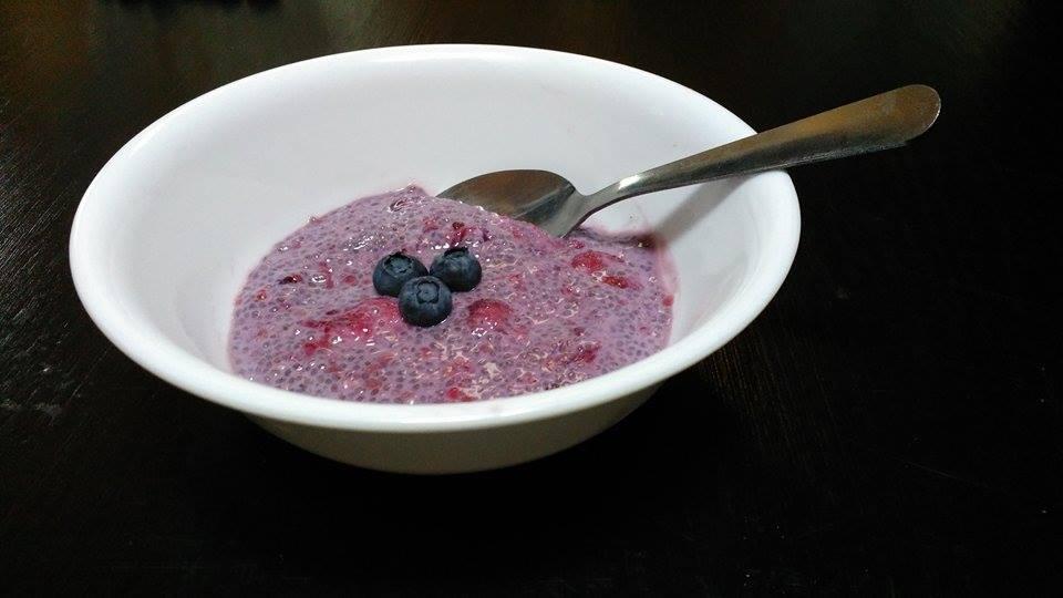 Pudding santé aux petits fruits selon Kayla